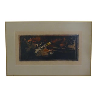 Signed Mid Century Modern Abstract Print