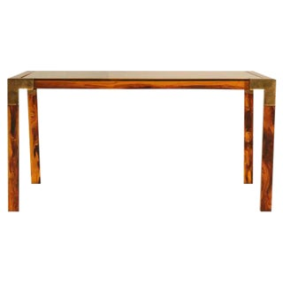 Circa 1960s Faux Tortoise Shell Coffee Table For Sale