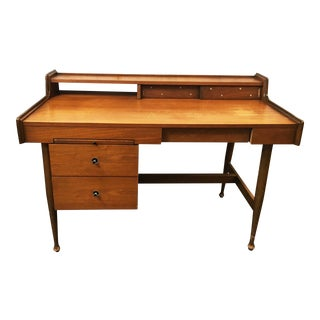Hooker Furniture Mid Century Modern Wood Desk