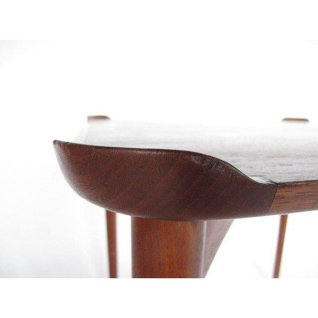 Mid-Century Modern 1950s Mid-Century Modern Finn Juhl for Baker Teak Card Table For Sale - Image 3 of 10