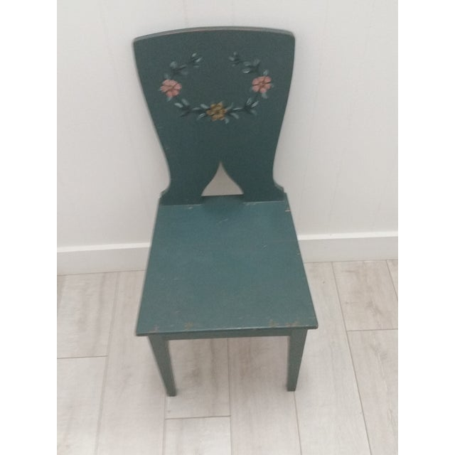 1900s Swedish Painted Kitchen Chairs - Set of 6 For Sale - Image 4 of 6