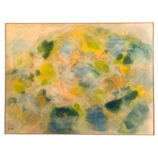 1970s Abstract Acrylic Painting on Canvas by Russell Twiggs