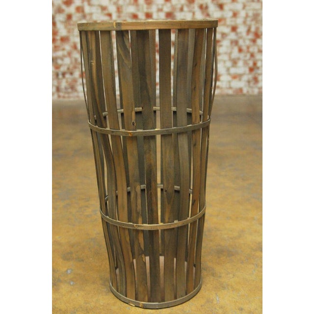 Wood Tall Wooden Cellar Baskets-Set of 3 For Sale - Image 7 of 11