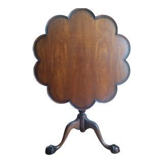 1950s Kittinger Colonial Williamsburg Pie Crust Tilt Dining Table For Sale