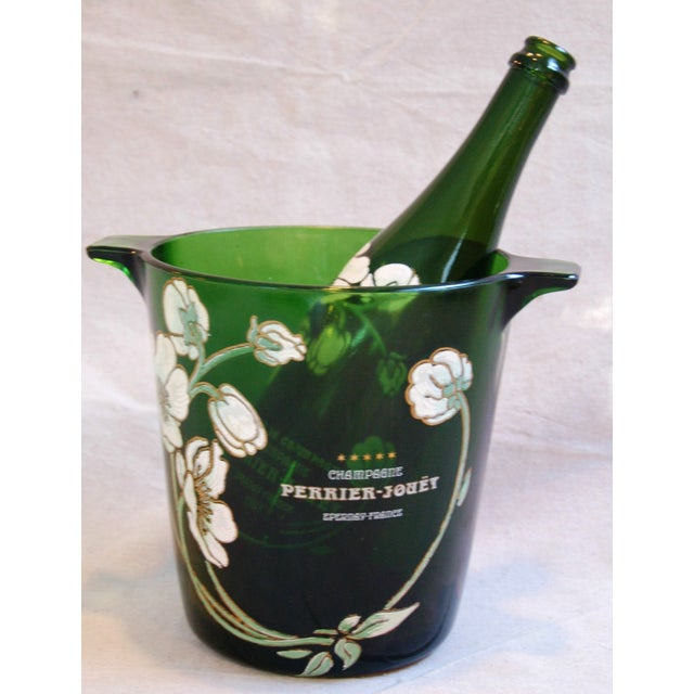 Green Perrier-Jouët Champagne Chiller Bucket For Sale - Image 8 of 8