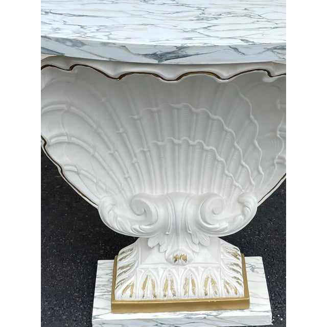 Grosfeld House Scallop Shell Console Table For Sale - Image 12 of 13