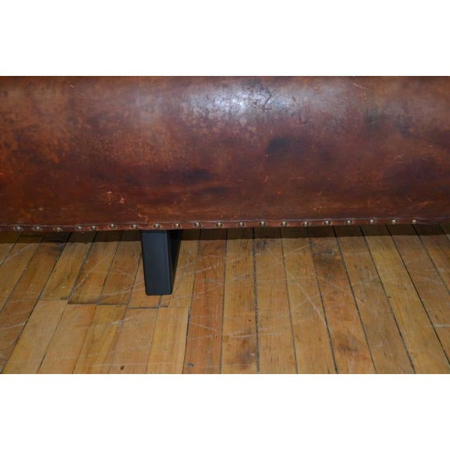 Vintage Leather Gym Pommel Horse Bench For Sale - Image 4 of 10