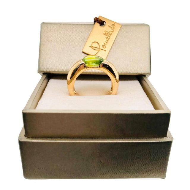 Pomellato Sassi Peridot 18k Rose Gold Ring Original Box For Sale - Image 4 of 6