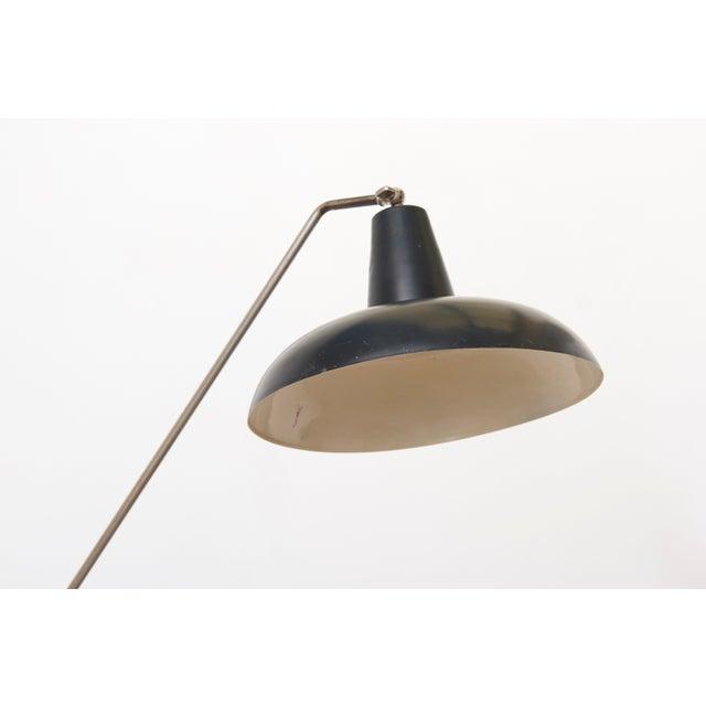 Mid-Century Modern Black Hoogervorst Rare Counter Balance Floor Lamp for Anvia 1950s Netherlands For Sale - Image 3 of 11