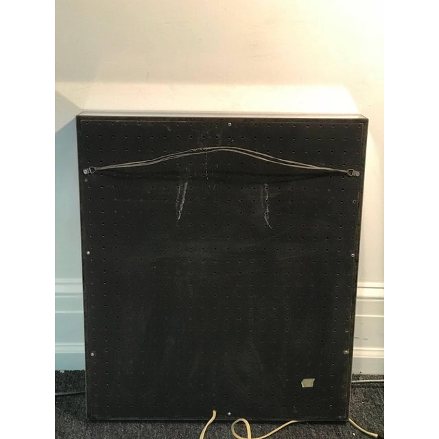 Glass 1970's Infinity Mirror For Sale - Image 7 of 8