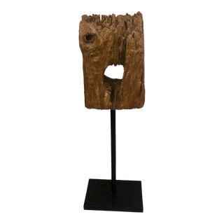 1960s Natural Wood Specimen Sculpture For Sale