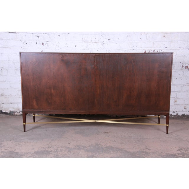 Paul McCobb Calvin Group Mahogany and Brass Credenza For Sale - Image 11 of 13