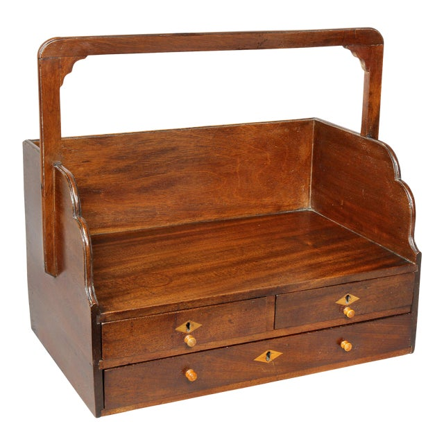 George III Mahogany Book Carrier For Sale