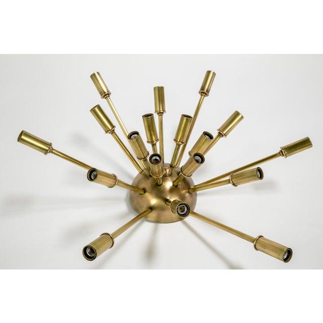Gold Sputnik Flush Mount / Sconce in Brass or Bronze Finish For Sale - Image 8 of 9