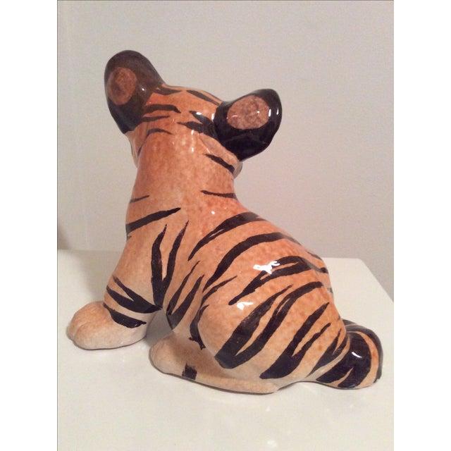 Vintage Italian Ceramic Tiger Cub Figurine - Image 5 of 7