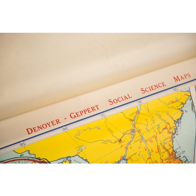 Denoyer-Geppert Vintage English Colonial Grants Map For Sale - Image 4 of 4