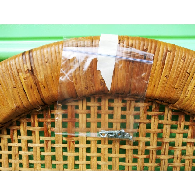 Boho Chic Handwoven Bamboo & Rattan Cane Twin Headboards - a Pair For Sale - Image 10 of 13