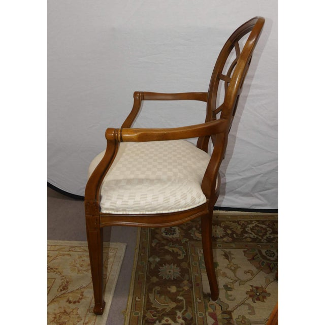 Transitional Century Furniture Spider Web Back Style Dining Armchairs- Set of 4 For Sale - Image 3 of 13