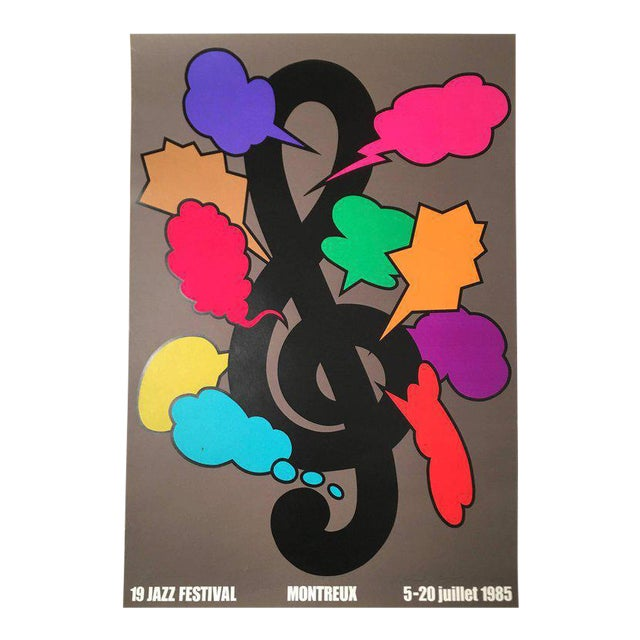 Montreux Jazz Festival Poster by Shigeo Fukuda For Sale
