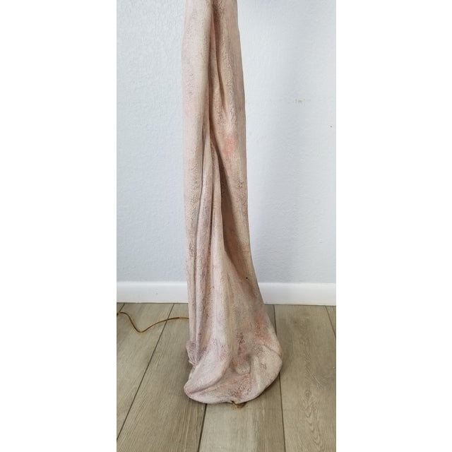 1970s John Dickinson Style Sculptural Draped Plaster Floor Lamps - a Pair For Sale - Image 5 of 13