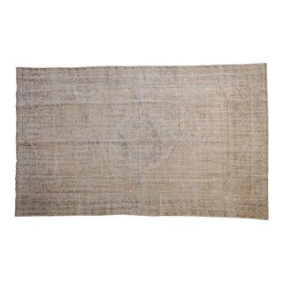 "Vintage Distressed Oushak Carpet - 5'8"" X 9'4"" For Sale"