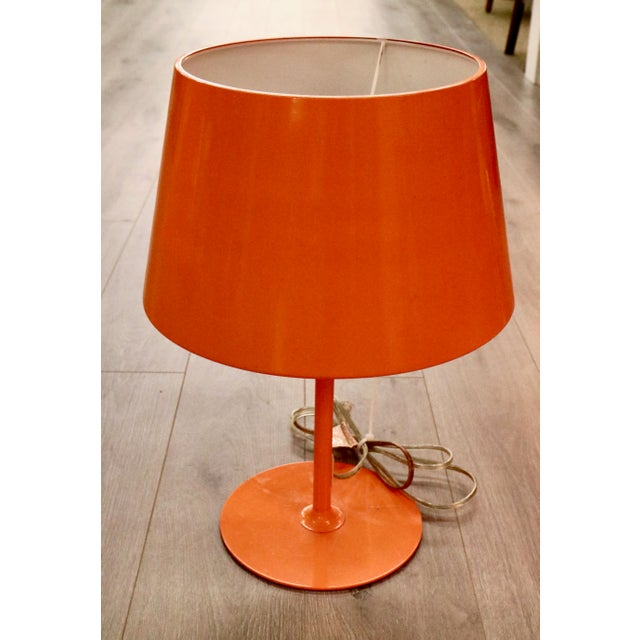 Vintage Orange Lamps - A Pair - Image 2 of 5