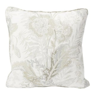 Schumacher Double-Sided Pillow in Sandoway Vine Linen Print For Sale