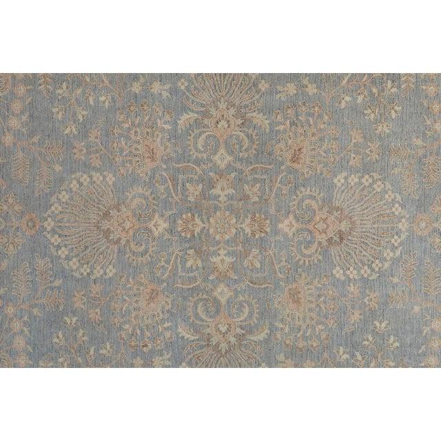 Traditional Kafkaz Peshawar Carter Gray & Ivory Wool Rug - 8'10 X 11'8 For Sale - Image 3 of 7