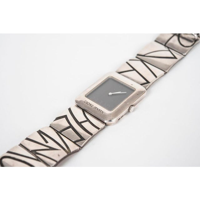 Modern Georg Jensen Private Commision Silver Watch Designed by Lene Munthe. For Sale - Image 3 of 6