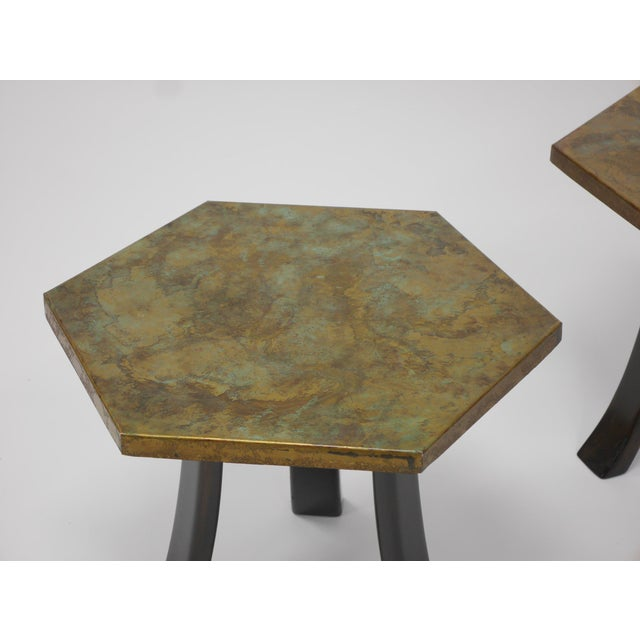 Pair of Harvey Probber Acid-Etched Bronze Tables For Sale In Boston - Image 6 of 11