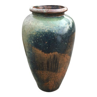 1930s Outdoor Pottery Vase For Sale