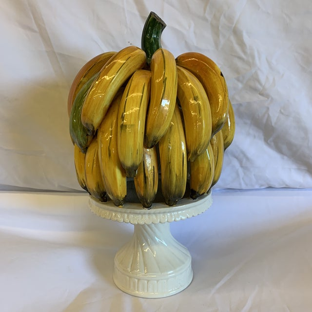 Italian Ceramic Banana Bunch Compote For Sale - Image 10 of 10