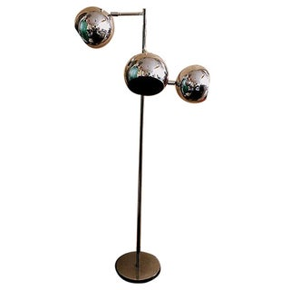 Robert Sonneman Chrome Floor Lamp