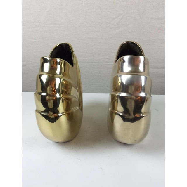 Art Deco Style Brass Vases - A Pair - Image 4 of 5