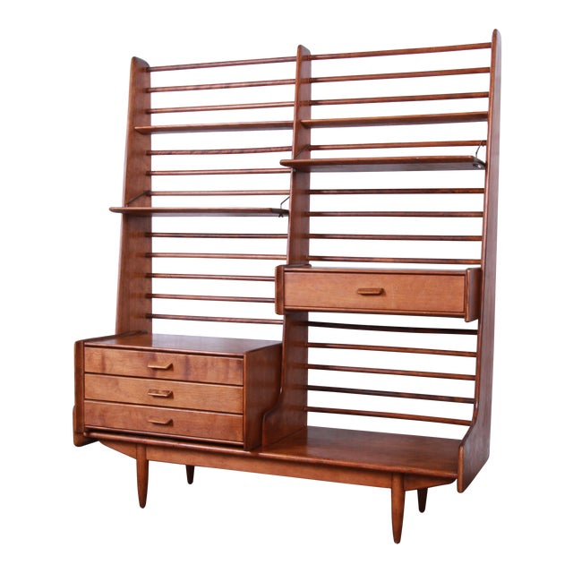 Leslie Diamond for Conant Ball Norsemates Room Divider or Wall Unit, 1950s For Sale