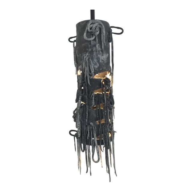 Ingrid Surreal Clay and Steel Pendant Light by Zuckerhosen For Sale