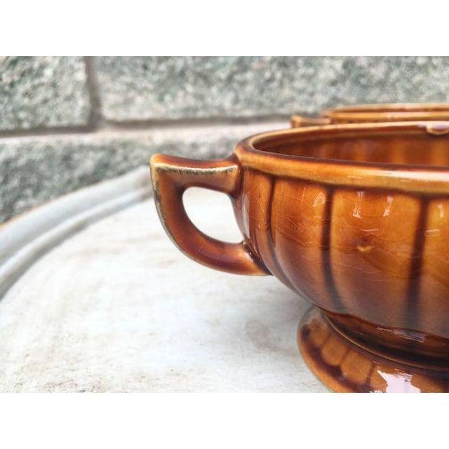 Vintage Amber Pedestal Bowls - Set of 4 - Image 6 of 8