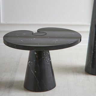 Angelo Mangiarotti Eros Side Table in Nero Marquina Marble -- Short Preview