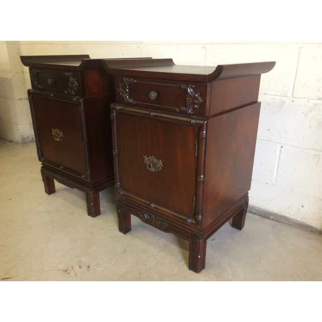 Asian Asian Style End Tables - A Pair For Sale - Image 3 of 8