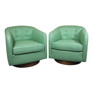 1960s Mid-Century Swivel Lounge Chairs - a Pair For Sale