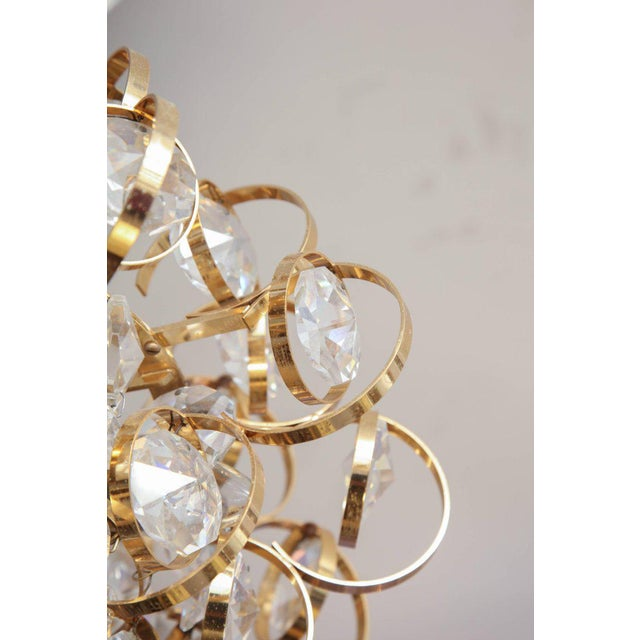 Traditional Glamorous Petite Vintage Palwa Chandelier For Sale - Image 3 of 7