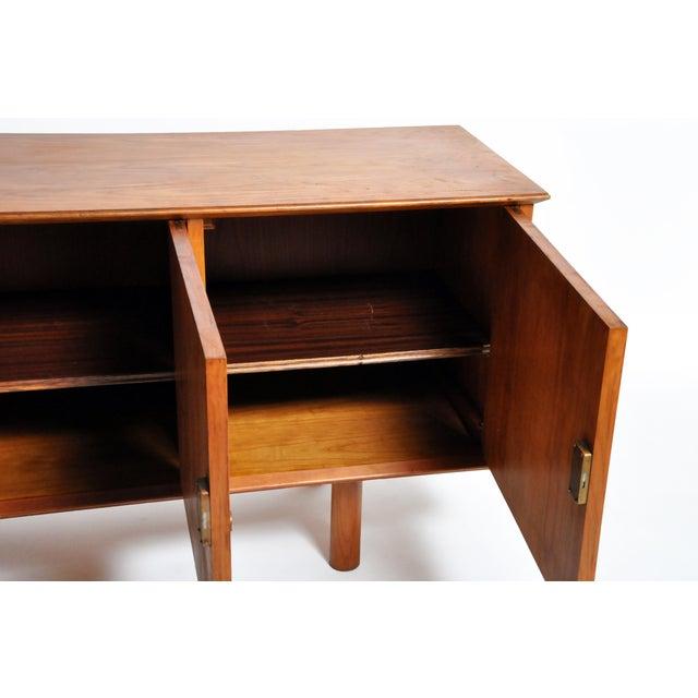 Wood French Mid-Century Modern Walnut Veneer Sideboard For Sale - Image 7 of 13