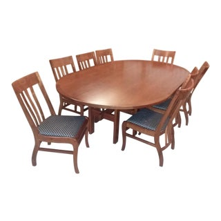 Walnut Dining Set For Sale