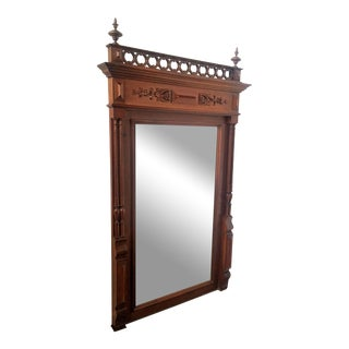 Victorian Mahogany Pier Mirror, Circa 1840 For Sale