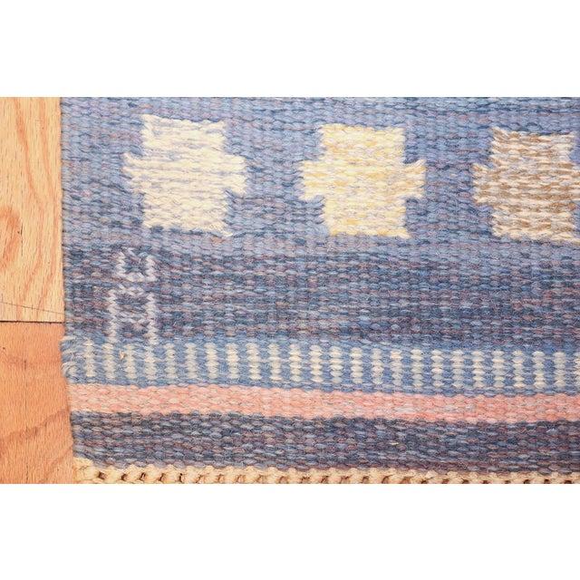Cottage Vintage Swedish Kilim Rug by Anna-Joanna Angstrom - 5′6″ × 7′9″ For Sale - Image 3 of 9