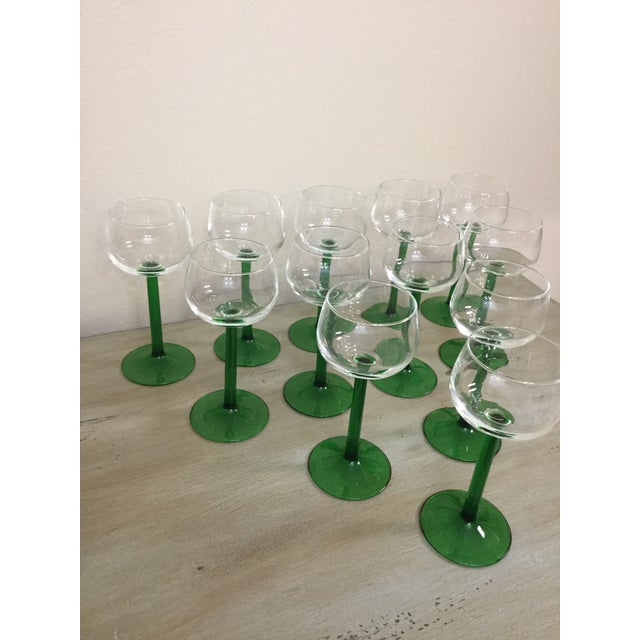 1960s 1960s Mid Century Cristal d'Arques Glasses - Set of 12 For Sale - Image 5 of 10