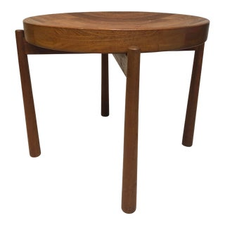 Mid-Century Modern DUX Solid Teak Side Table For Sale