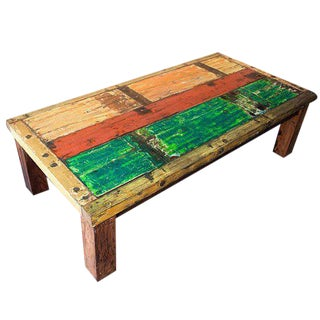 Javanese Fishing Boat Coffee Table For Sale