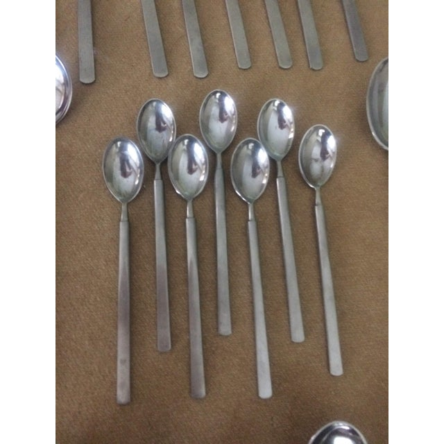 1950's Danish Modern Eric Herlow Oblisk Flatware - Service for 8 (84 Pieces) For Sale - Image 9 of 11