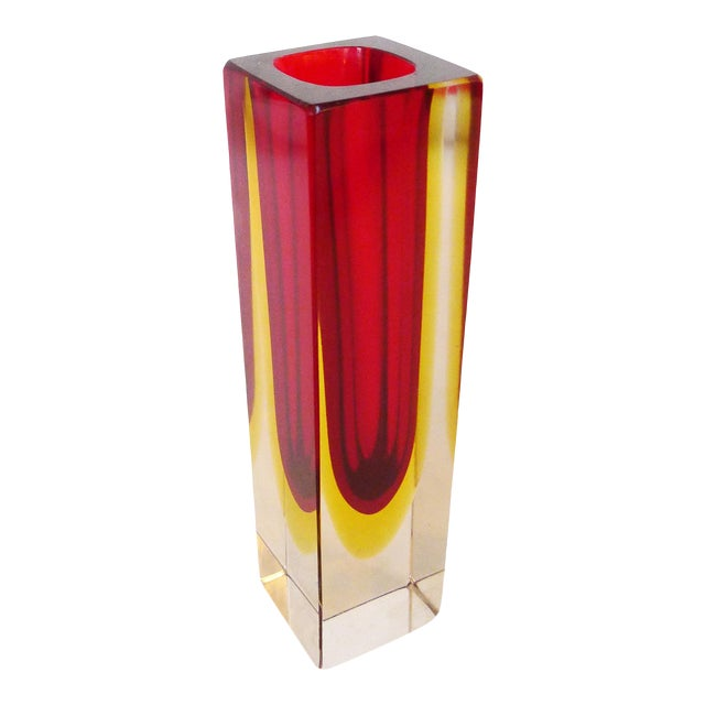 Sommerso Glass Vase Attributed to Flavio Poli For Sale